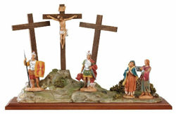 Picture of Crucifixion cm 12 (5 Inch) Life of Christ Scene Fontanini Nativity Statue hand painted in Plastic (PVC)