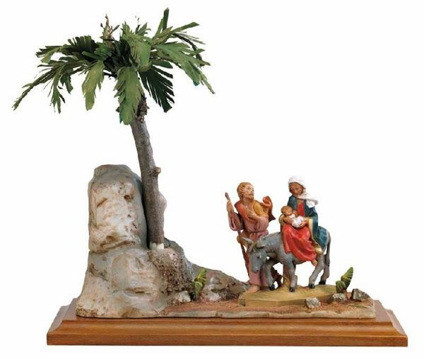 Picture of Flight into Egypy cm 12 (5 Inch) Life of Christ Scene Fontanini Nativity Statue hand painted in Plastic (PVC)