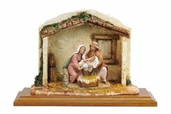 Picture of Birth of Jesus cm 12 (5 Inch) Life of Christ Scene Fontanini Nativity Statue hand painted in Plastic (PVC)