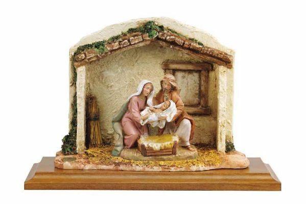 Immagine di Nascita di Gesù cm 12 (5 Inch) Presepe Fontanini Scena Vita di Cristo  in Plastica (PVC) dipinta a mano