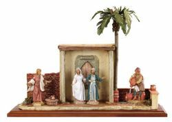 Picture of Marriage at Cana cm 12 (5 Inch) Life of Christ Scene Fontanini Nativity Statue hand painted in Plastic (PVC)