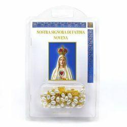 Nuestra Señora de Fátima Novena - libro + rosário de vidrio