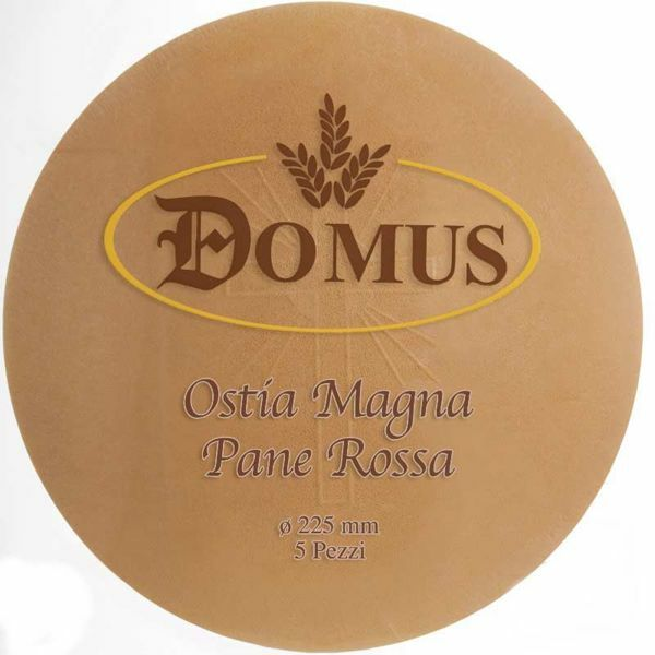 Picture of Red bread Magna Host diam. 225 mm (8,8 inch), h. 1,4 mm, 5 pcs Communion Bread
