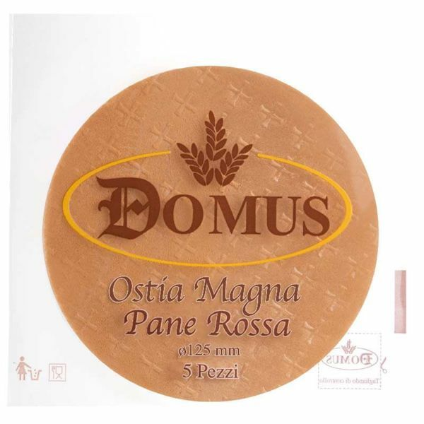 Picture of Red bread Magna Host diam. 125 mm (4,9 inch), h. 1,4 mm, 5 pcs Communion Bread