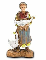 Picture of Woman with Geese cm 3,5 (1,4 inch) Landi Moranduzzo Nativity Scene in PVC, Neapolitan style
