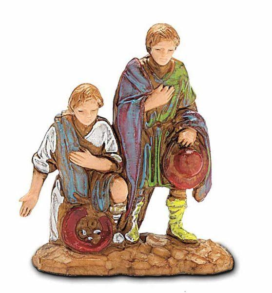 Immagine di Pastore con Doni cm 3,5 (1,4 inch) Presepe Landi Moranduzzo in PVC stile Napoletano