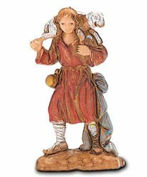 Picture of Good Shepherd cm 3,5 (1,4 inch) Landi Moranduzzo Nativity Scene in PVC, Neapolitan style