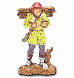 Picture of Lumberjack cm 3,5 (1,4 inch) Landi Moranduzzo Nativity Scene in PVC, Neapolitan style