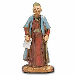 Picture of King Herod cm 3,5 (1,4 inch) Landi Moranduzzo Nativity Scene in PVC, Neapolitan style