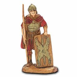 Picture of Roman Soldier with Shield cm 3,5 (1,4 inch) Landi Moranduzzo Nativity Scene in PVC, Neapolitan style