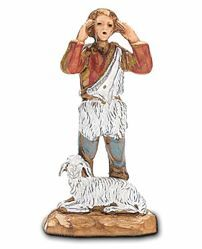 Picture of Screaming Man cm 3,5 (1,4 inch) Landi Moranduzzo Nativity Scene in PVC, Neapolitan style