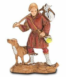 Picture of Wayfarer with Dog cm 3,5 (1,4 inch) Landi Moranduzzo Nativity Scene in PVC, Neapolitan style