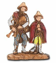 Picture of Bagpipers cm 3,5 (1,4 inch) Landi Moranduzzo Nativity Scene in PVC, Neapolitan style
