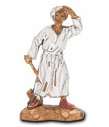 Picture of Arab cm 3,5 (1,4 inch) Landi Moranduzzo Nativity Scene in PVC, Neapolitan style