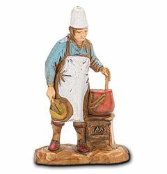 Picture of Cook cm 3,5 (1,4 inch) Landi Moranduzzo Nativity Scene in PVC, Neapolitan style