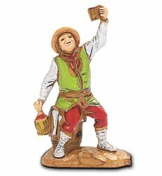 Picture of Sitting Drinker cm 3,5 (1,4 inch) Landi Moranduzzo Nativity Scene in PVC, Neapolitan style
