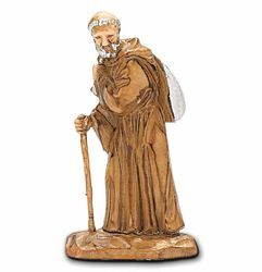 Picture of Monk cm 3,5 (1,4 inch) Landi Moranduzzo Nativity Scene in PVC, Neapolitan style