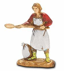 Picture of Pizza Man cm 3,5 (1,4 inch) Landi Moranduzzo Nativity Scene in PVC, Neapolitan style