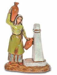 Picture of Woman at the Fountain cm 3,5 (1,4 inch) Landi Moranduzzo Nativity Scene in PVC, Neapolitan style