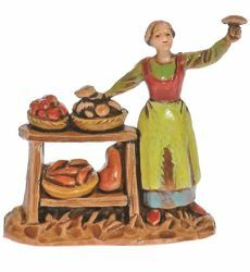 Picture of Greengrocer cm 3,5 (1,4 inch) Landi Moranduzzo Nativity Scene in PVC, Neapolitan style