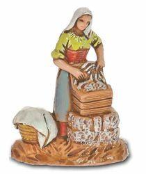 Picture of Washerwoman cm 3,5 (1,4 inch) Landi Moranduzzo Nativity Scene in PVC, Neapolitan style