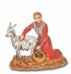 Picture of Milkmaid cm 3,5 (1,4 inch) Landi Moranduzzo Nativity Scene in PVC, Neapolitan style