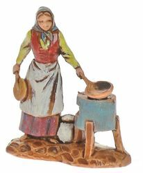 Picture of Chestnut-woman cm 3,5 (1,4 inch) Landi Moranduzzo Nativity Scene in PVC, Neapolitan style