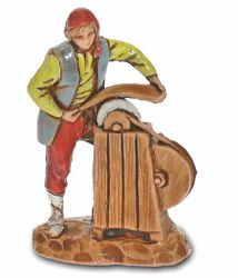 Picture of Knife Sharpener cm 3,5 (1,4 inch) Landi Moranduzzo Nativity Scene in PVC, Neapolitan style