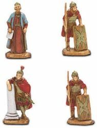 Picture of King Herod, Centurion and 2 Soldiers cm 3,5 (1,4 inch) Landi Moranduzzo Nativity Scene in PVC, Neapolitan style