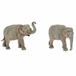 Picture of 2 Elephants Set cm 3,5 (1,4 inch) Landi Moranduzzo Nativity Scene in PVC, Neapolitan style