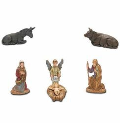 Picture of Holy Family Set 6 pcs cm 3,5 (1,4 inch) Landi Moranduzzo Nativity Scene in PVC, Neapolitan style