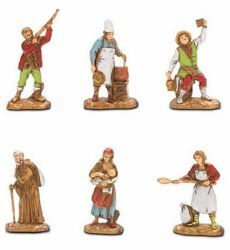 Picture of 6 Subjects Set cm 3,5 (1,4 inch) Landi Moranduzzo Nativity Scene in PVC, Neapolitan style