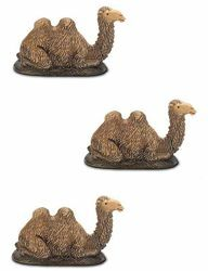 Picture of 3 Camels Set cm 3,5 (1,4 inch) Landi Moranduzzo Nativity Scene in PVC, Neapolitan style