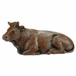 Picture of Ox cm 3,5 (1,4 inch) Landi Moranduzzo Nativity Scene in PVC, Neapolitan style