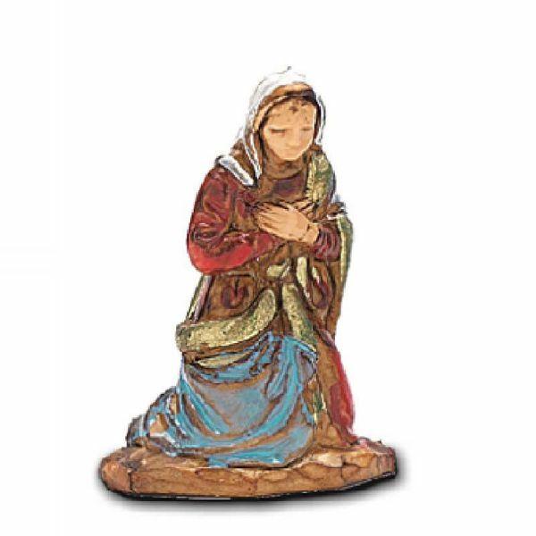 Immagine di Madonna / Maria cm 3,5 (1,4 inch) Presepe Landi Moranduzzo in PVC stile Napoletano