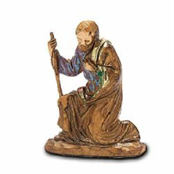 Picture of Saint Joseph cm 3,5 (1,4 inch) Landi Moranduzzo Nativity Scene in PVC, Neapolitan style
