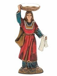 Picture of Woman with Basket cm 10 (3,9 inch) Landi Moranduzzo Nativity Scene in PVC, Arabic style