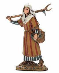 Picture of Peasant Girl cm 10 (3,9 inch) Landi Moranduzzo Nativity Scene in PVC, Arabic style