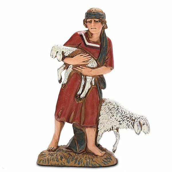 Picture of Good Shepherd cm 10 (3,9 inch) Landi Moranduzzo Nativity Scene in PVC, Arabic style