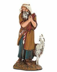Picture of Elderly Man with Goat cm 10 (3,9 inch) Landi Moranduzzo Nativity Scene in PVC, Arabic style