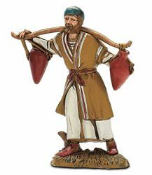 Picture of Man with Jugs cm 10 (3,9 inch) Landi Moranduzzo Nativity Scene in PVC, Arabic style