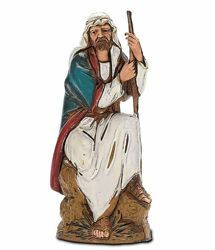 Picture of Sitting Guardian cm 10 (3,9 inch) Landi Moranduzzo Nativity Scene in PVC, Arabic style