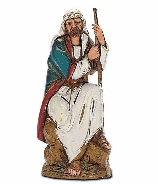 Imagen de Guardián sentado cm 10 (3,9 inch) Belén Landi Moranduzzo en PVC, estilo árabe