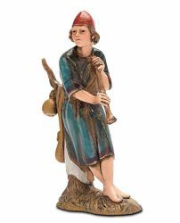 Picture of Shepherd with Flute cm 10 (3,9 inch) Landi Moranduzzo Nativity Scene in PVC, Arabic style
