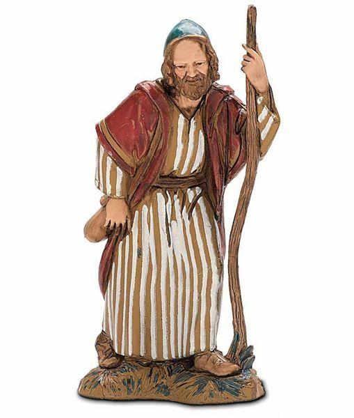 Immagine di Vecchio con Bastone cm 10 (3,9 inch) Presepe Landi Moranduzzo in PVC stile Arabo