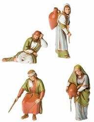 Picture of Women Set cm 10 (3,9 inch) Landi Moranduzzo Nativity Scene in PVC, Arabic style