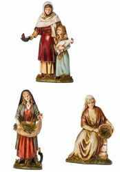 Picture of Peasant Women 3 Subjects Set cm 10 (3,9 inch) Landi Moranduzzo Nativity Scene in PVC, Arabic style