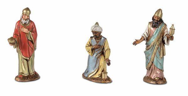 Picture of Wise Kings cm 10 (3,9 inch) Landi Moranduzzo Nativity Scene in PVC, Arabic style