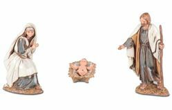 Picture of Holy Family Set 3 pcs cm 10 (3,9 inch) Landi Moranduzzo Nativity Scene in PVC, Arabic style