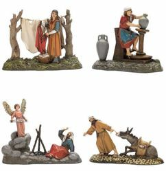 Picture of 4 Subjects Set cm 10 (3,9 inch) Landi Moranduzzo Nativity Scene in PVC, Arabic style